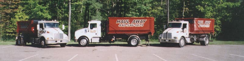 Container Service, Picture Of Three Trucks - Haul-Away